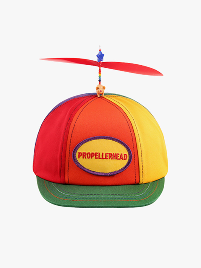 Multi-Colored Propeller Hat With Brim