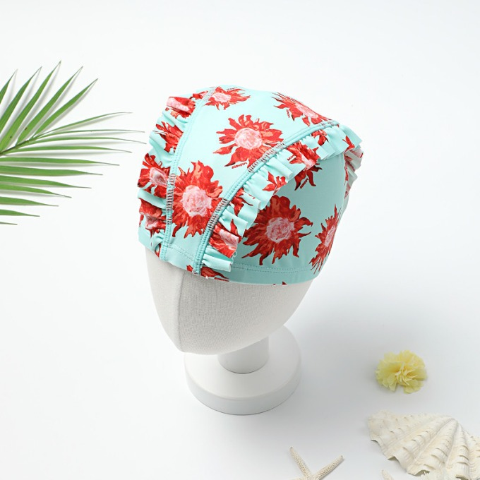 MINT SUNFLOWER SWIM CAP
