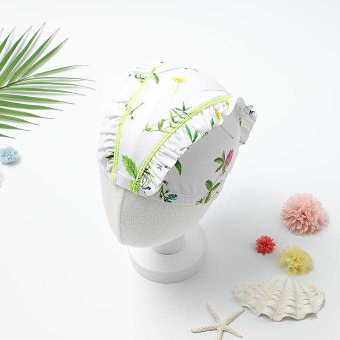 BOTANIC FLOWER SWIM CAP