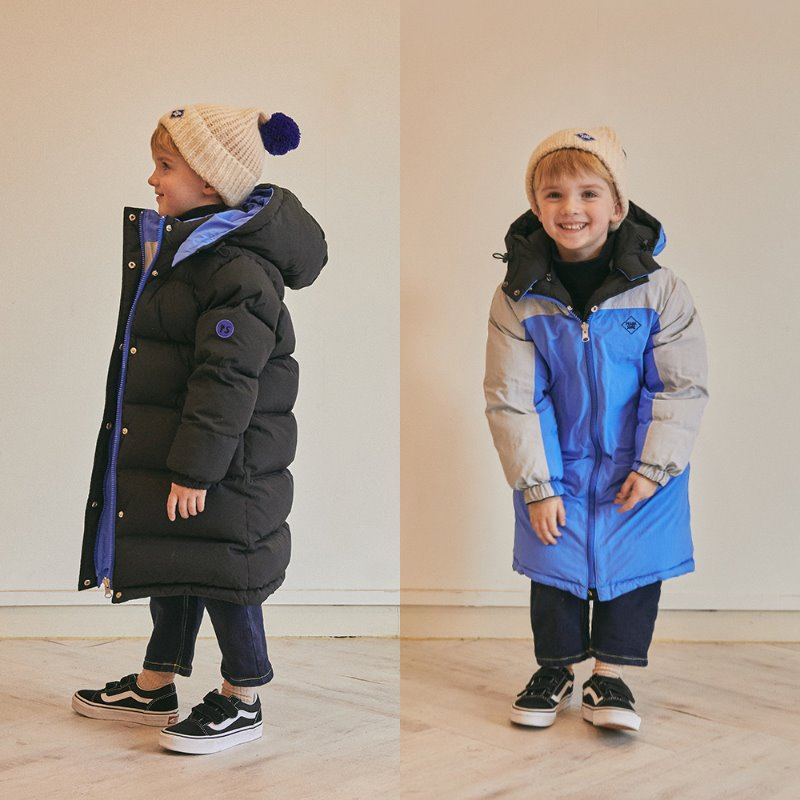 Play Reversible Long Goose Down_Black/Blue