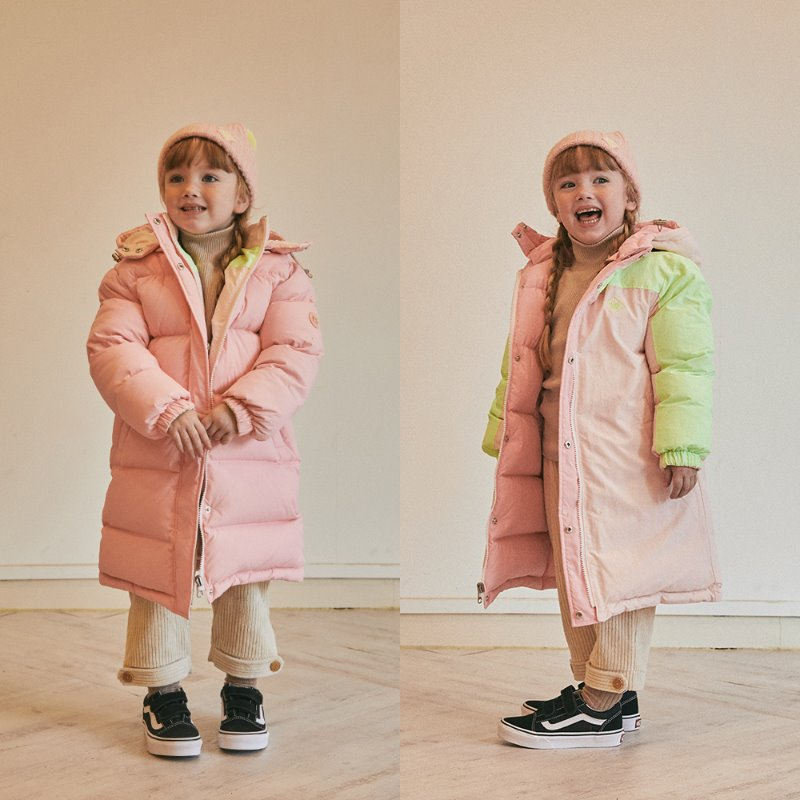Play Reversible Long Goose Down_Pink
