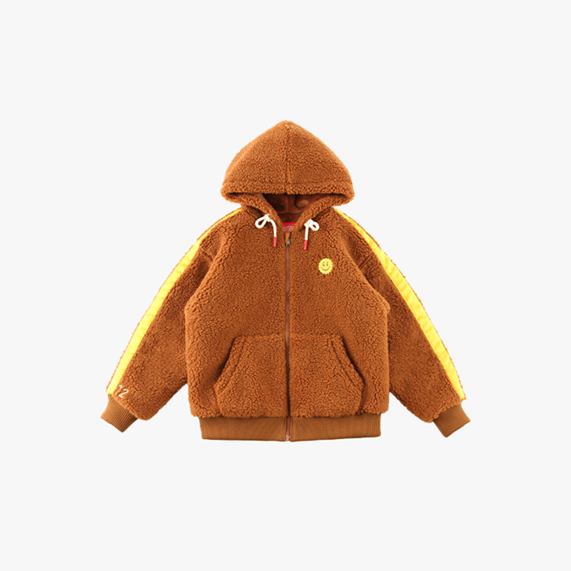 Quiz smile sherpa fleece hooded zip-up