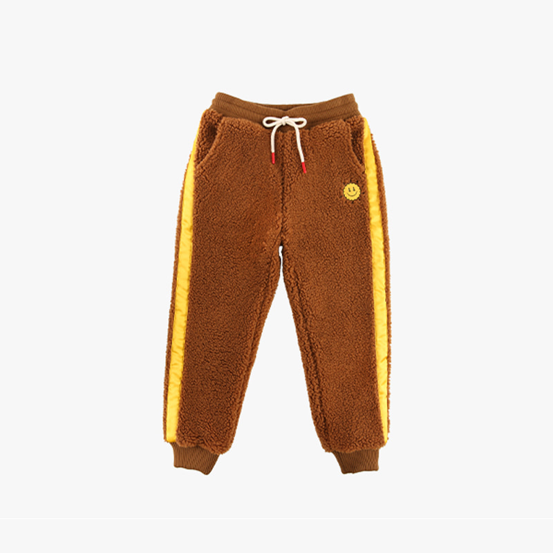 Quiz smile sherpa fleece pants