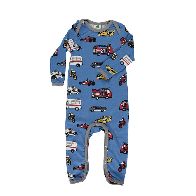 Body suit with cars Winter Blue