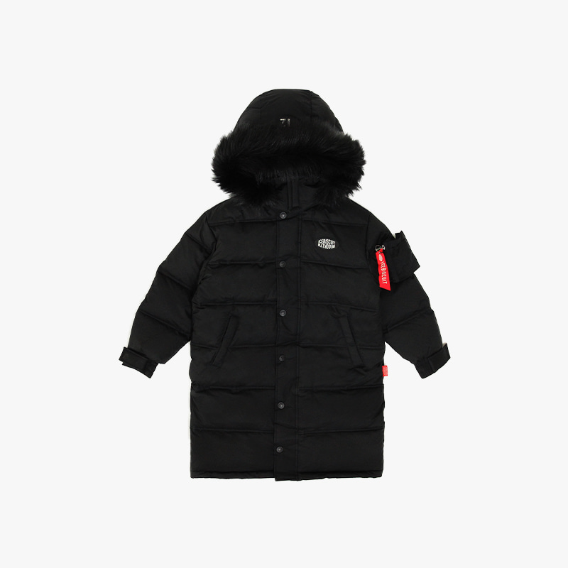 Icebiscuit reflective long down coat