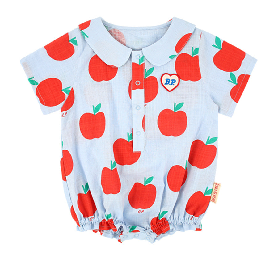 All over apple baby woven bodysuit