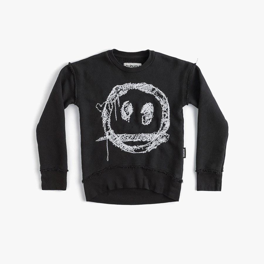 Embroidered smile sweatshirt (baby)