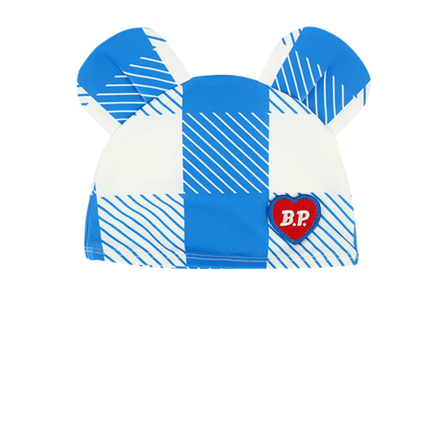 All over blue shepherd check baby swim hat