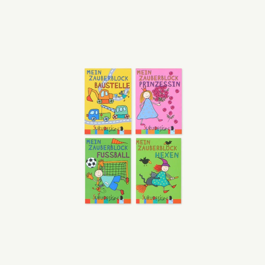 Magic Drawing Mini Note Set B (4ea)