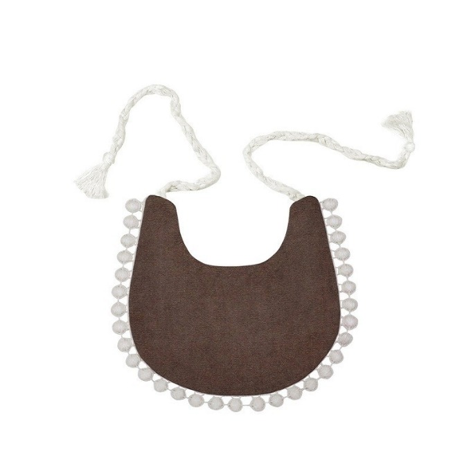 Lace bib (Brown)