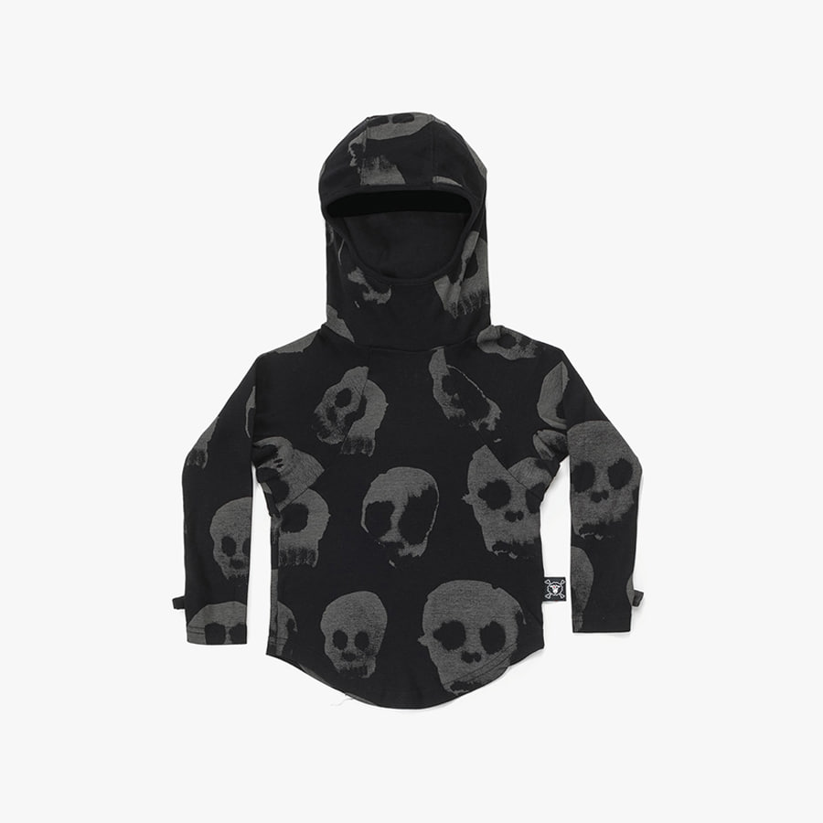 All over water skull ninja shirt (Kids)