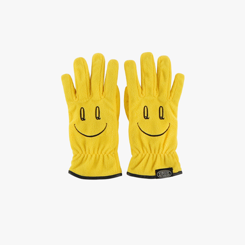 Quiz smile fleece gloves