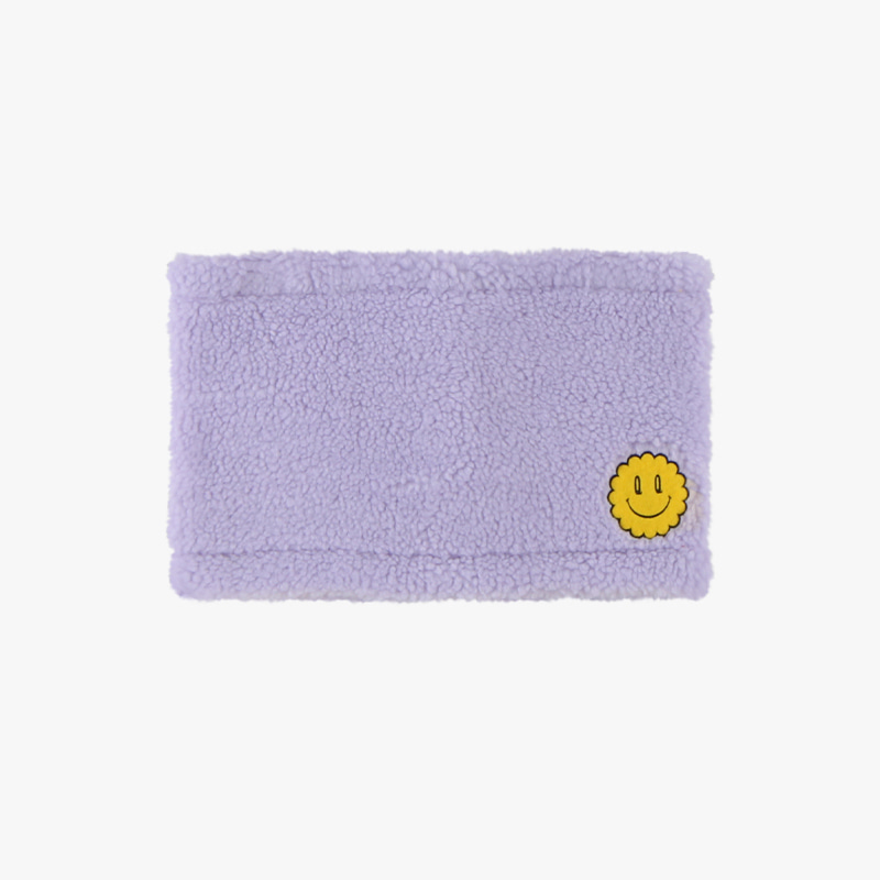 Quiz smile fluffy fleece neck warmer