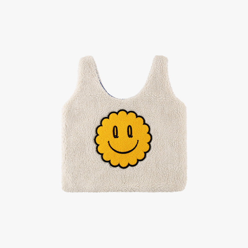 Quiz smile sherpa fleece tote bag