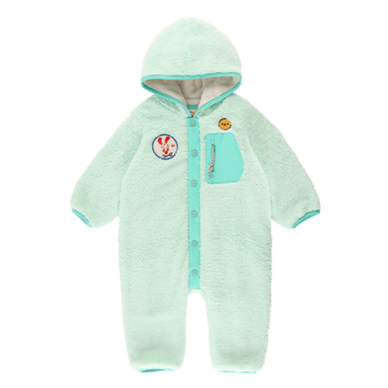 Janet baby boa fur hooded overall