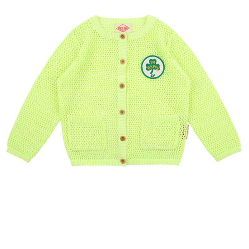 Clover neon yellow cardigan