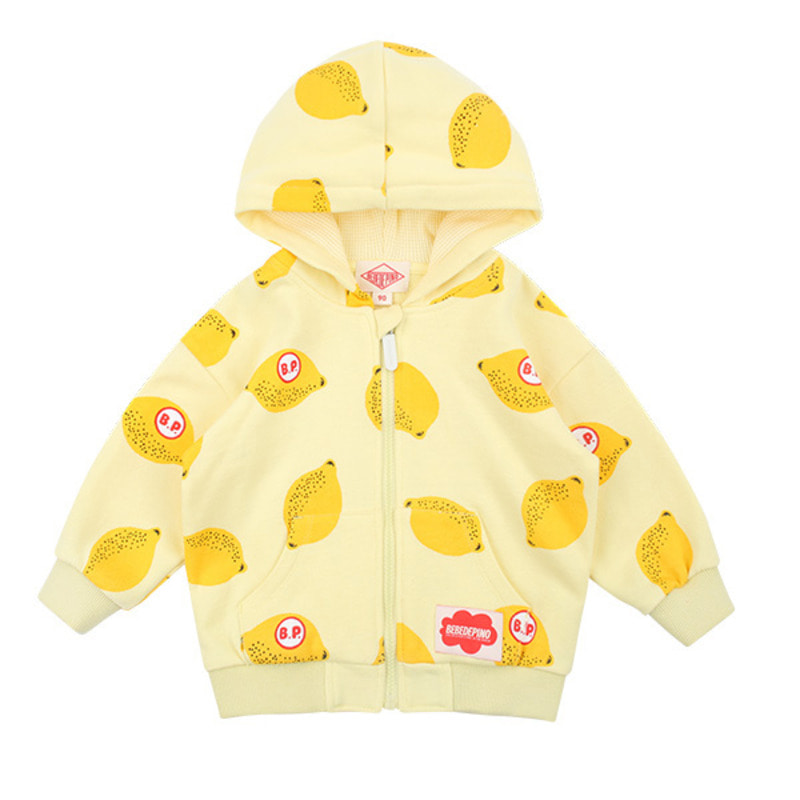 Multi lemon baby zip up jacket