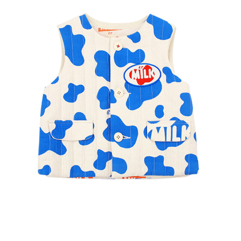 Milk pattern baby padding vest