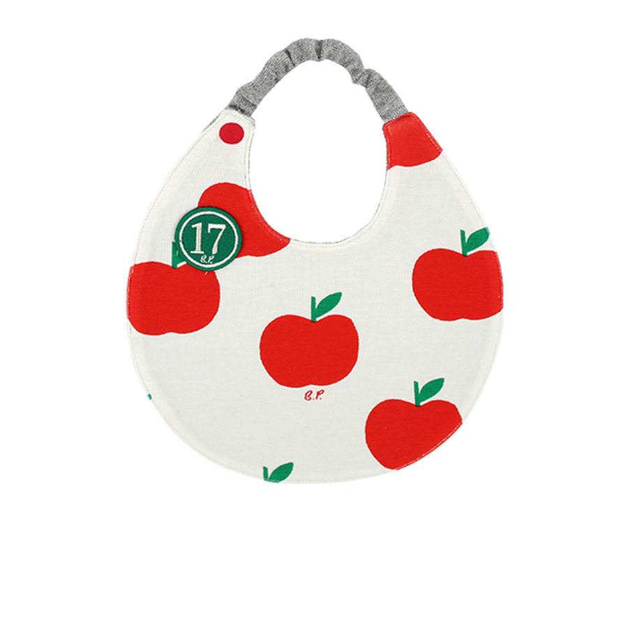 All over apple baby circle bib