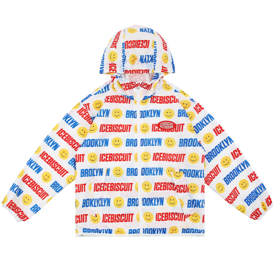 Smile Icebiscuit-printed windbreaker