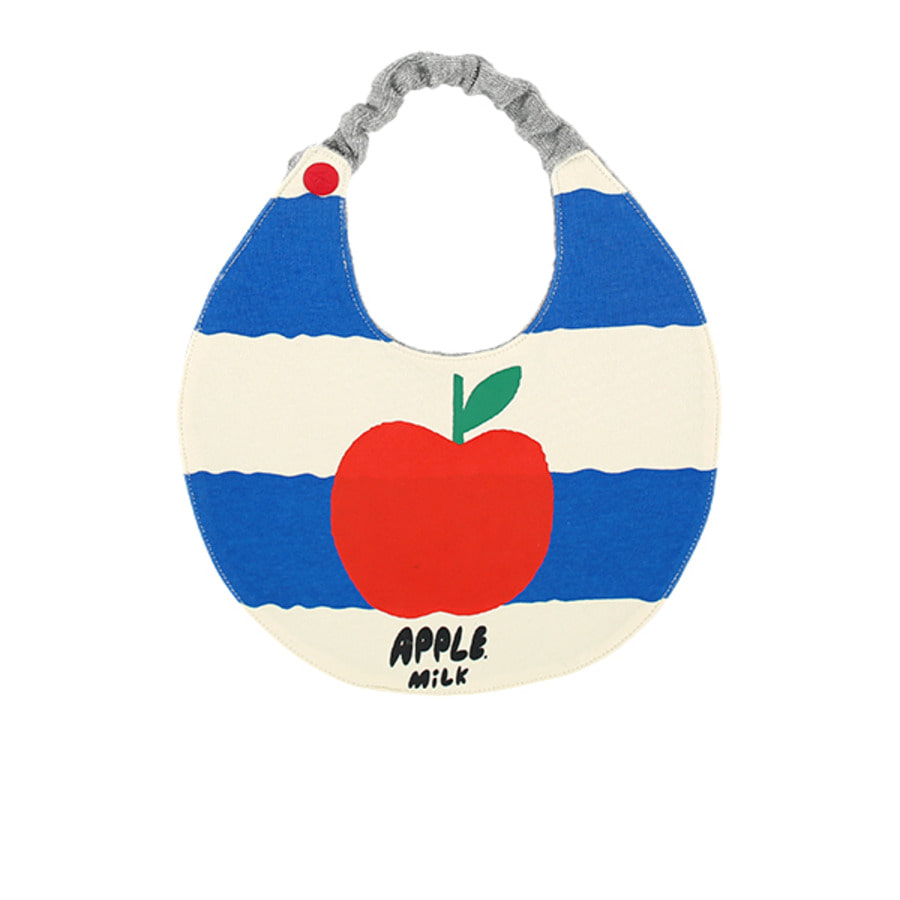 Apple milk baby striped circle bib