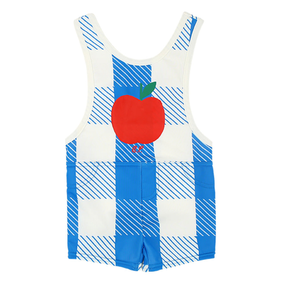All over blue shepherd check swim suit