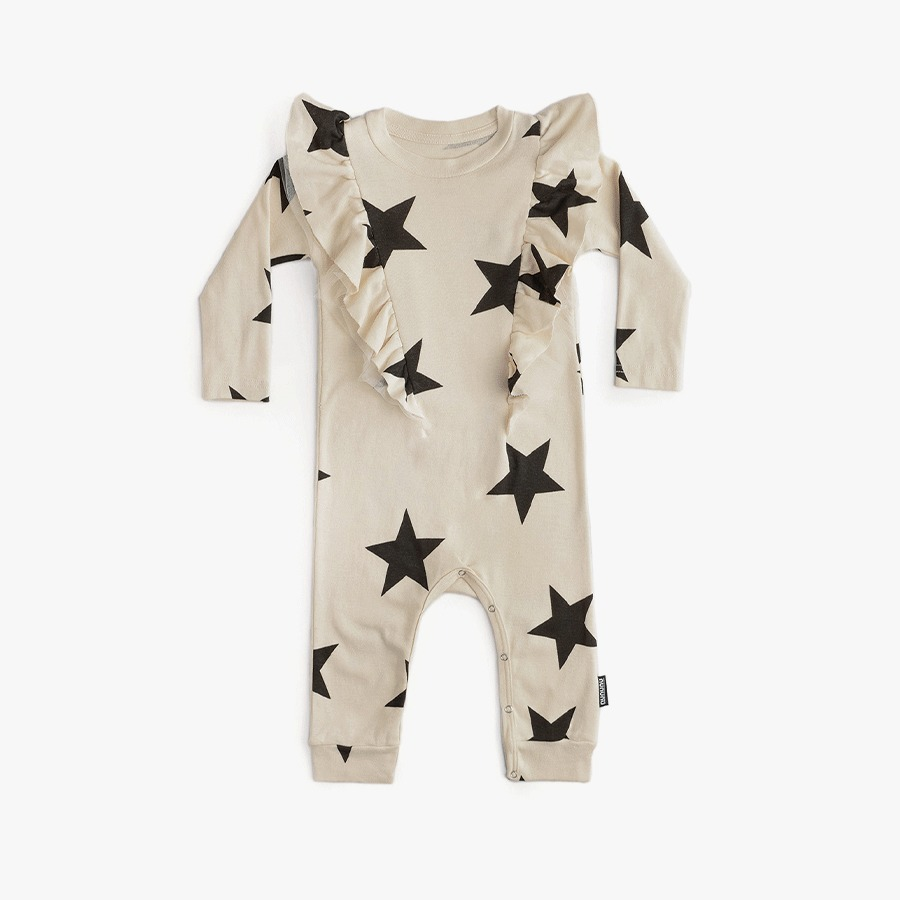 Ruffled star playsuit (new born)