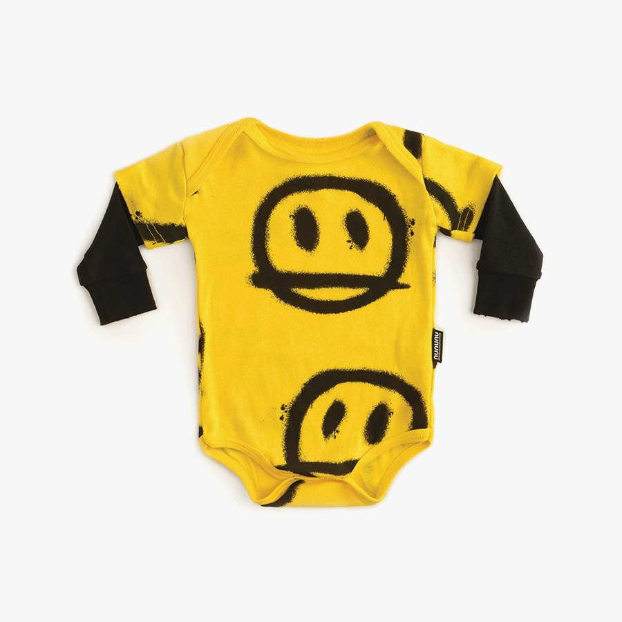 Sprayed smiles onesie (new born)