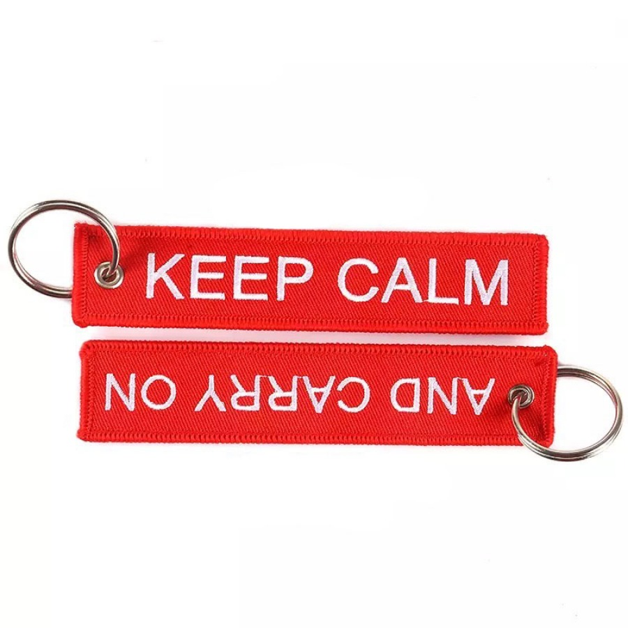 Keep Calm and Carry On 키링 (Red)