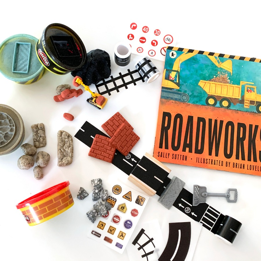 캐리마켓 -  [Instant Writing] Roadworks (Book + Sticker set + Playdoh), Sally Sutton, 인스턴트 북클럽