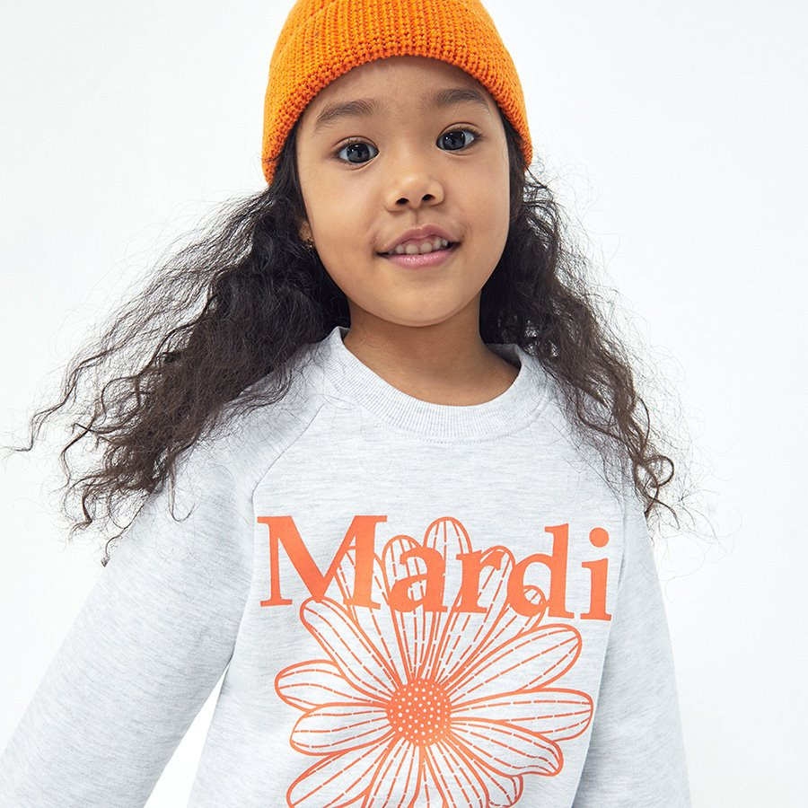 캐리마켓 -  KIDS-SWEAT-FLOWER MARDI-HEATHER