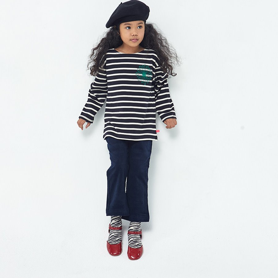 캐리마켓 -  KIDS-LONG SLEEVE-STRIPE-NAVY