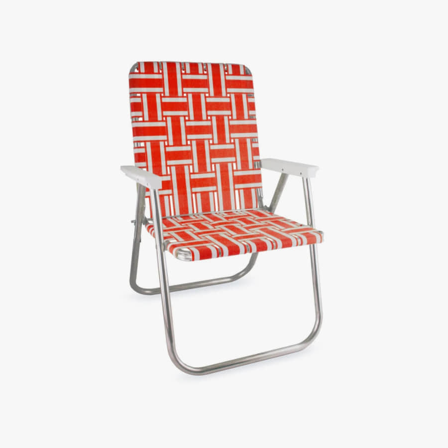 캐리마켓 -  (Classic) Orange and White Stripe Classic Chair