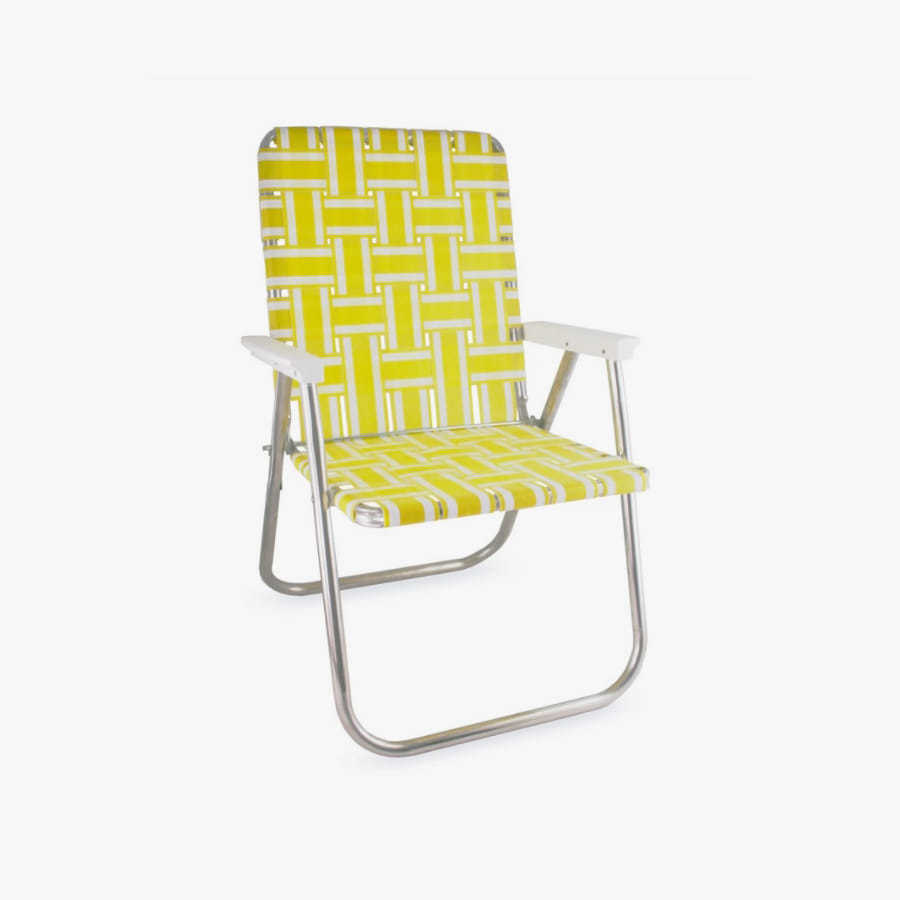 캐리마켓 -  (Classic) Yellow and White Stripe Classic Chair