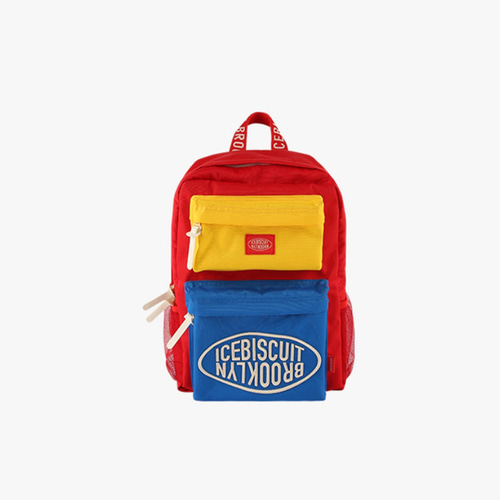 Icebiscuit color block double pocket backpack
